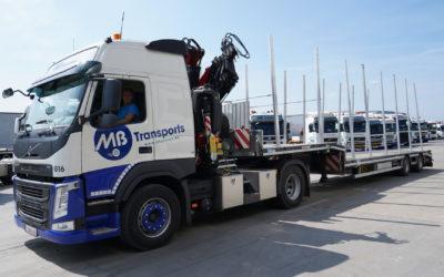 Deux nouveaux camions-grues chez MB Transports : G16 et G5