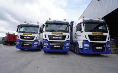 Trois nouveaux camions MAN pour MB Transports